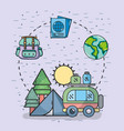 travel and vacations vector image