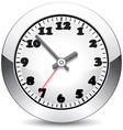 vector metal clock vector image