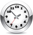 vector metal clock vector image vector image