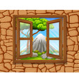 window to nature scene vector image vector image