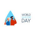 world water day banner for safe drinking waters vector image vector image