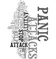 you can control symptoms of a panic attacks text vector image vector image