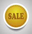 Sale stitched label vector image