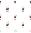 a cup of lattedifferent types of coffee single vector image