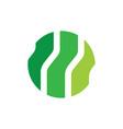 circle technology eco logo vector image