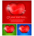 three heart color vector image