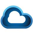 3d cloud vector image vector image