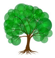 abstract tree covered with green foliage in the vector image vector image