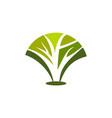 abstract tree icon concept logo green vector image vector image