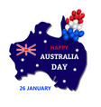australia day theme vector image vector image
