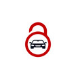 automotive security logo icon design vector image