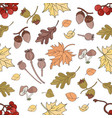 autumn rawberry nature seamless pattern ill vector image vector image