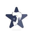 barber shop star shape concept logo