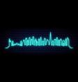 blue neon skyline dubai city bright dubai vector image