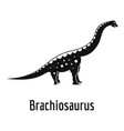 brachiosaurus icon simple style vector image