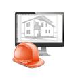 Building Computer Design vector image vector image