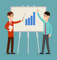 business meeting presentation two businessman vector image