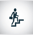 businessman climbing stairs icon for web and ui on vector image