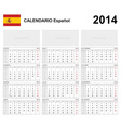 Calendar 2014 Spain Type 19B vector image