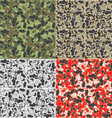 Camouflage pattern background vector image