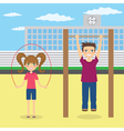 Children near school vector image vector image