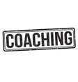 coaching grunge rubber stamp vector image