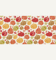 cute colorful assorted pumpkins seamless pattern vector image vector image