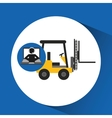 delivery call centre operator online forklift vector image