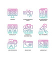 digital marketing icons set 4 vector image vector image