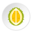 durian icon circle vector image vector image