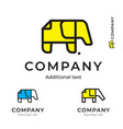 elephant of paper simple logo modern identity vector image vector image