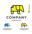 elephant paper simple logo modern identity vector image vector image