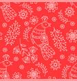 ethnic red decorative folk ornament seamless vector image