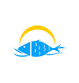 fish logo template vector image vector image