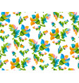 folk style floral seamless pattern vector image