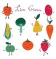 Fruits and vegetables colorful collection vector image vector image