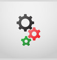 gears icon in colorful style vector image