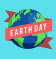 happy earth day concept vector image