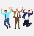 happy workers vector image vector image