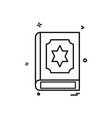 holy book icon design vector image