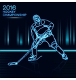 Ice Hockey 2016 Championship concept art one line vector image vector image