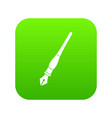 ink pen icon digital green vector image vector image