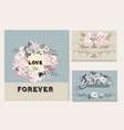 Invitation card with roses for design