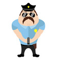 isolated cute police cartoon character vector image