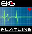 keg flat line vector image