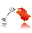 key with label vector image vector image