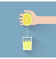 lemon squeeze vector image