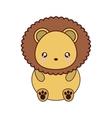 lion kawaii cute animal icon vector image vector image