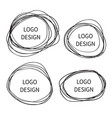 logo design hand drawn circle banner vector image vector image