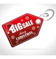 Merry christmas shopping vector image vector image